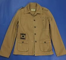 Ousheng giacca donna usato jacket manica lunga marrone XXL marrone cotone T1134