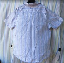 Y Neck Short Sleeve Striped Regular Size T-Shirts for Men