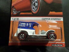 HOT WHEELS 2015 HW RED LINES #1 COPPER STOPPER HOTWHEELS WHT/BLUE VHTF REDLINE