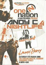 (RAVE FLYERS 2008) ONE NATION / NIGHTLIFE 4 @ BRISTOL ACADEMY