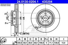 Brake Disc (2 pcs) - ATE 24.0130-0204.1