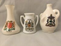 Crested China Glasgow Arms Of Scotland Aberdeen W H Goss Willow