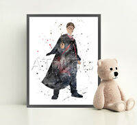HARRY POTTER Print Poster Watercolor Framed Canvas Wall Art Nursery Decor