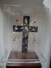 Salvador Dali  Crucifixion  Dark Grey Marble Sculpture