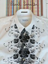 PAUL SMITH FLORAL SHIRT size S - Lovely, Stylish Shirt - Embroidered Front  RARE