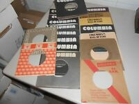 """Lot of 50 various Columbia Record Company Empty 10"""" 45 rpm Record Sleeves"""