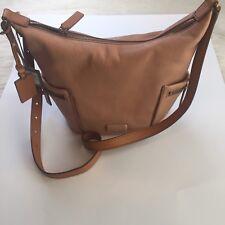 Fossil Emerson Small Hobo Shell Pink Leather Shoulder Handbag + Logo Key Tag #2