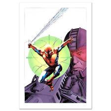 STAN LEE signed SPIDER-MAN Marvel ORIGINAL COMIC Artworks CANVAS COA ULTIMATE