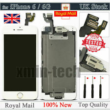"For iPhone 6 White 4.7"" Screen Replacement Digitizer LCD Home Button Camera UK"
