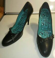 "Versace Versus Black Leather 4"" Heel Pumps shoes Size 39"