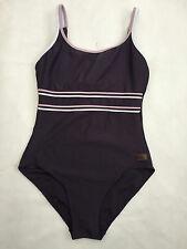 LADIES DEBENHAMS PURPLE SWIMMING COSTUME WITH INNER WIRED CUPS SIZE 12