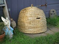 Traditional Wicker Straw Bee Skep Hive. Wildlife Garden Allotment. Beekeeping.