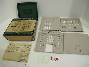 Vintage Plasticville BANK Kit BK-1 149 O Scale with OB and directions
