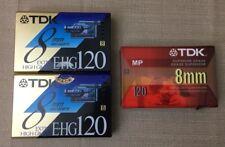TDK EHG120 Extra High Grade 8 mm 120 Min Tape Lot 3