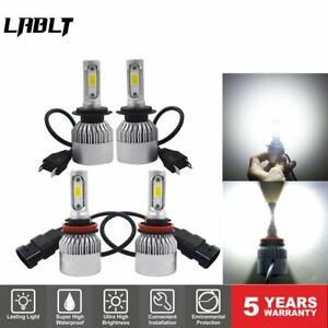 4x H7 H11 Combo LED Headlight Kit Fog Light Bulbs High Low Beam 6000K Brighter