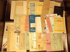 Lot vieux papiers carte d'identité, électeur, permis, fonctionnaire ...