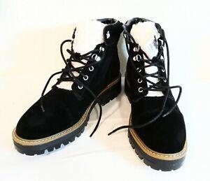 Time Tru Womens Winter Boots Fleece Faux Fur Sz 10 Black New Free Shipping