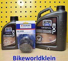 Suzuki VS 1400 Intruder Öl Bel Ray EXL 10W40 Mineral + Original Ölfilter VX51L