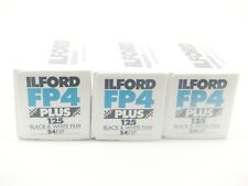 3 x ILFORD FP4 PLUS 125 35mm 24 Exp CHEAP B&W FILM By 1st CLASS ROYAL MAIL
