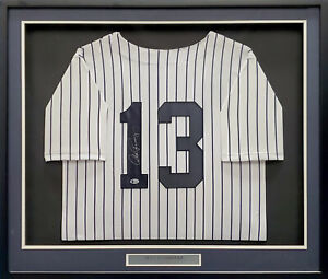 Yankees Alex Rodriguez Autographed Signed Framed White Jersey Beckett #J95542