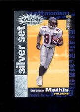 1995 UD CC TERANCE MATHIS Atlanta Falcons Crash the Game Silver Insert Card