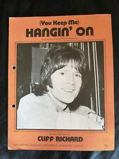Cliff Richard - 'You Keep Me Hangin' On' - 1970's Vintage Sheet Music Score!