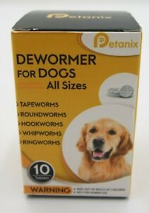 Petanix Dewormer for Dogs All Sizes 10 Tablets Expires 10/25/2021
