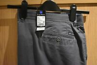 "Luigi Morini Gallino Mens Trousers Grey Size 48"" W / 34"" L NEW WITH TAGS Chino"