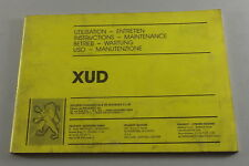 Betriebsanleitung Peugeot Industriemotor XUD für Gabelstapler
