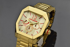 Aragon 'Concept S'  Men's 46mm GOLD Ion Plated AUTOMATIC Watch A271GLD