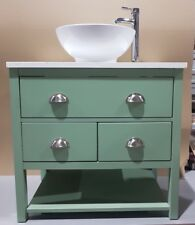 Wash Stand 80cm Bathroom Cabinet Granite Top, Bowl, Tap Waste Painted Any Colour