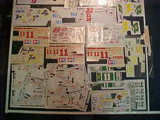 HOME DEPOT PEPSI SMOKIN JOES STP ETC. LARGE MULTIPLE 1/24 WATER SLIDE DECAL LOT