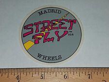 VTG 80's MADRID PRO DESIGNS STREET FLY WHEELS PAPER NOS SKATEBOARD DECK STICKER