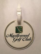 Vintage Rare Myrtlewood Golf Club Golf Bag Tag - Myrtle Beach, Sc - A Beauty!