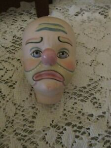 Lorraine DeFeno Doll Head, 1982, Painted Clown Face, Adorable