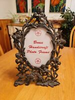 Antique Vintage Brass Ornate Gold  Victorian Picture Frame Easel 7x5 photo