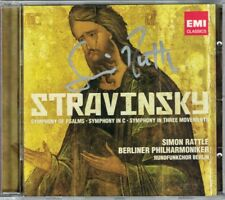 Sir Simon Rattle SIGNED Stravinsky Symphony of Salmo in Three Movements in C CD