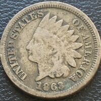 1863 Indian Head Cent 1c One Penny Circulated #23575