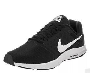 Nike Downshifter 7 Trainers New Men's UK 9 Running Gym School Sports Shoes Black