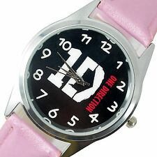 1D One Direction Musica Pop Rosa in Acciaio Inox in Pelle Band Orologio Rotondo CD