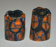 Antique Venetian Italian Orange Millefiori Murrine Cane Beads African Trade