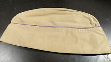 WWII US Army Army Medical Overseas Garrison Cap Hat Red White Khaki