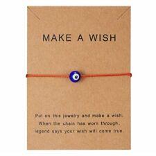 Blue Evil Eyes Paper Card Red Bracelet Handmade Bangle Charm Women Jewelry Gift