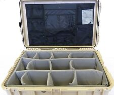 Desert Tan - SKB Case With padded Dividers and Pelican 1650 / 1659 Lid Organizer