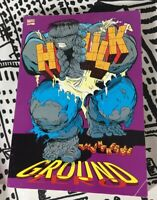 1991 Marvel Comics The Incredible Hulk Ground Zero Graphic Novel Paperback Book