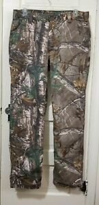 Mens Carhartt Realtree Xtra Relaxed Fit 102288-977 Canvas Camo Pants 36 x 34