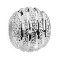 MATERIA Charms Anhänger 925 Silber Perle Damen Mädchen Glitzer Kugel für Kette