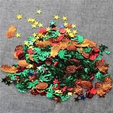 Party Colorful Hawaiian Tropical Pineapple Tree Green Pepper Confetti Glitter q
