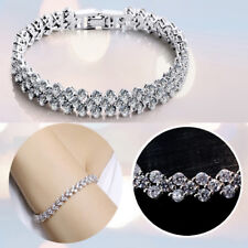Womens Ladies Bracelet 925 Sterling Silver Jewellery Classic Solid Bangle Gift