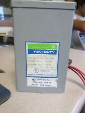 General Signal Hevi-Duty 1Ph 120/240 Primary Volts 12/24 Secondary Transformer